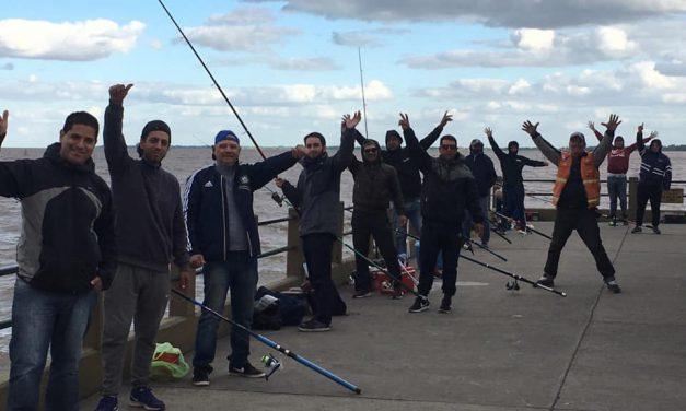Jornada de pesca en el club Pejerrey de Quilmes