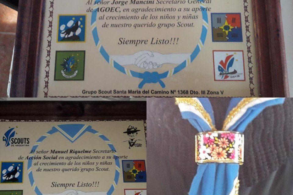 Agradecimiento al Grupo Scout Santa María del Camino N° 1368
