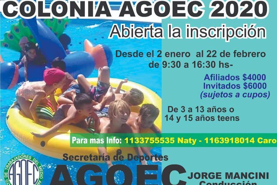 COLONIA AGOEC 2020 – Abierta la Inscripción