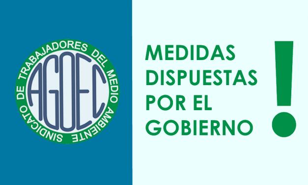 MEDIDAS DISPUESTAS POR EL GOBIERNO