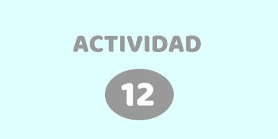 ACTIVIDAD 12 – ¿QUÉ TIENEN EN COMÚN?