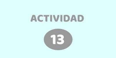 ACTIVIDAD 13 – RESOLVE EL ACERTIJO