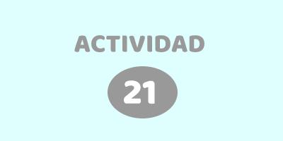 ACTIVIDAD 21 – ACERTIJO Descubrí el número que falta