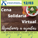 Invitación Cena Solidaria Virtual