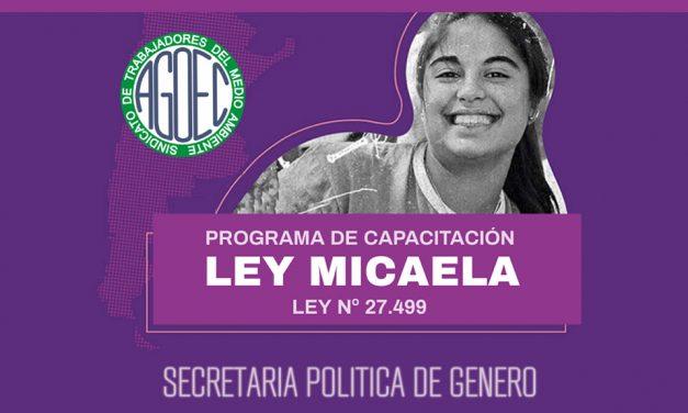 #PoliticadeGeneroAgoec INSCRIBITE A LA CAPACITACIÓN LEY MICAELA