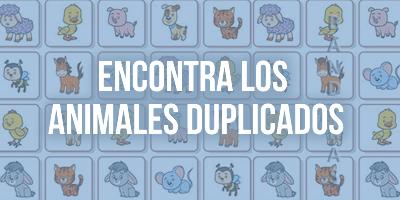 ACTIVIDAD DEL DÍA – ENCONTRA LOS ANIMALES DUPLICADOS