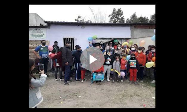 Nuestros compañeros de Juventud visitaron el Merendero Araceli de la localidad de Grand Bourg